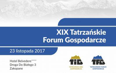 Podsumowanie XIX Tatrzańskiego Forum Gospodarczego
